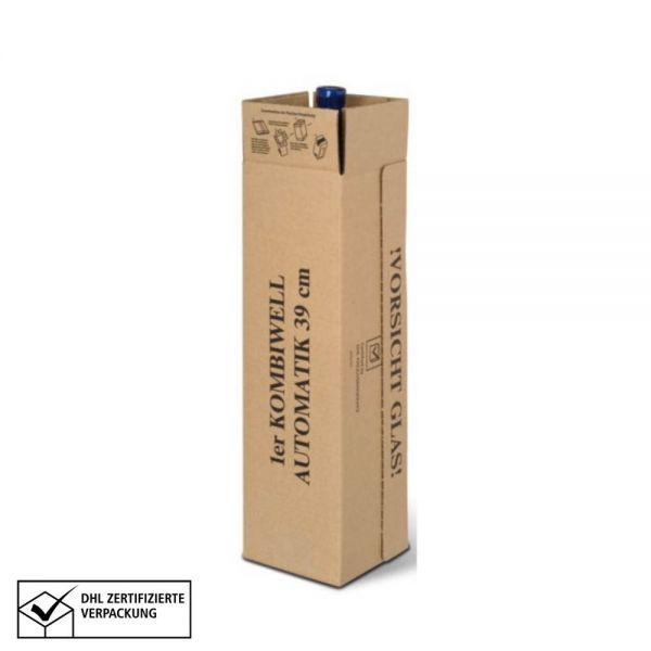 10 Stück: 93x93x390 mm 1er Kombiwell Flaschenkarton stehend