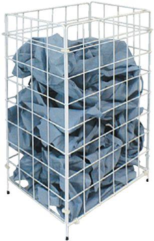 Abfalleimer m-waste, Metall, 54 l, 330 x 255 x 640 mm, weiß