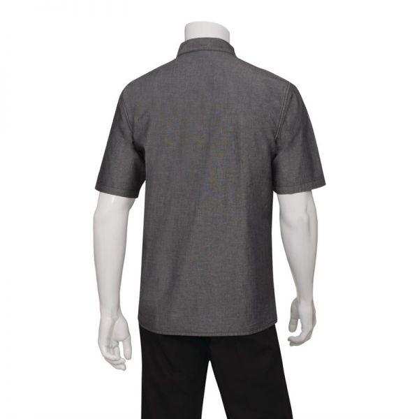 Chef Works Unisex Denim Hemd Detroit kurzarm schwarz S