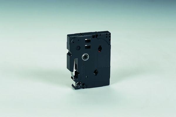 Schriftbandkassette TZe, laminiert, 12 mm x 8 m, schwarz auf farblos