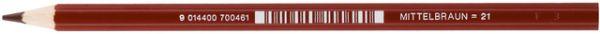 Farbstift, Supersticks CLASSIC, sechseckig, Schreibf.: Mittelbraun