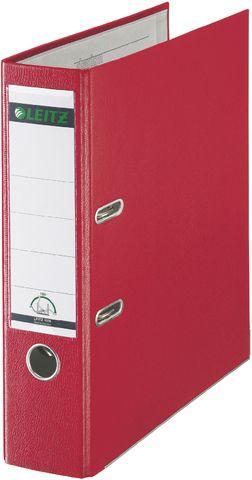 Ordner Plastik, PP-kasch., Einsteckrückenschild, A4, 80mm, rot