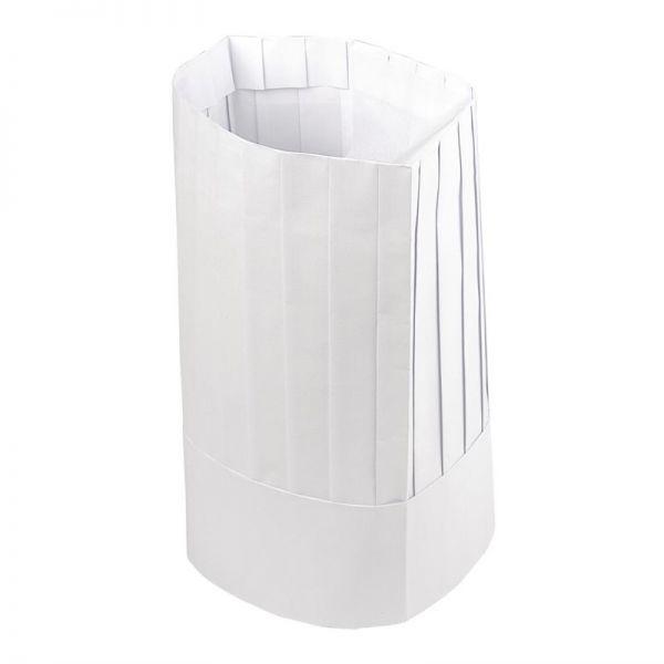 Plastico Einweg-Kochmütze papier hoch; Inhalt: 50 Stück