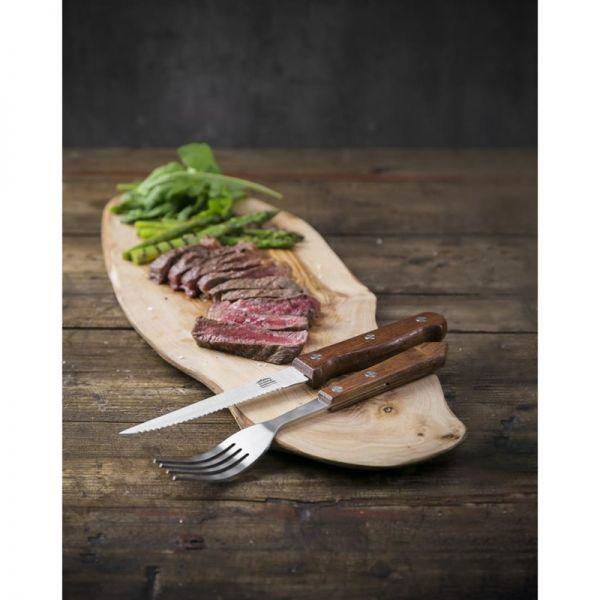 Olympia Steakgabeln mit Holzgriff; Inhalt: 12 Stück