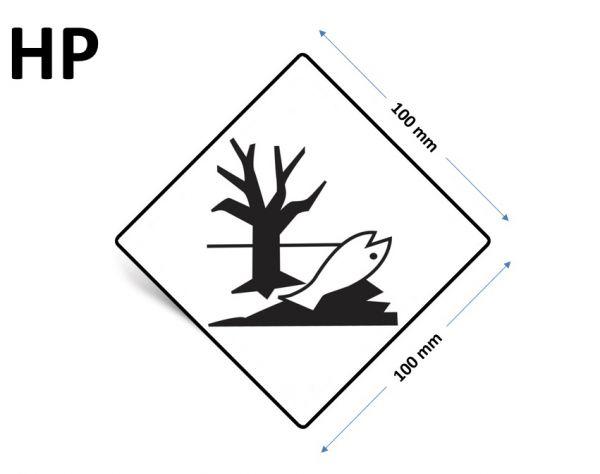 """1000 Stück Gefahrgut-Kennzeichnung """"Umweltgefährdende Stoffe"""""""