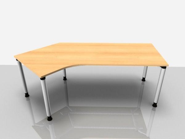 Abgewink.Tisch li. Rialto Pro, 2.170x800/1.000x680-820mm, buche