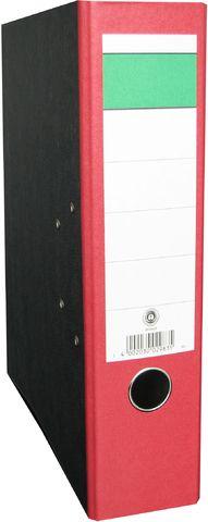 Ordner, Wolkenmarm.(RC), SK-Rü.sch., m.Griffloch, A4, 80mm, rot