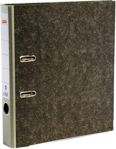 Ordner, Wolkenmarmorpapier (RC), SK-Rückenschild, A4, 50mm, grau