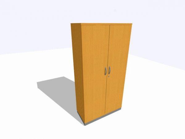 Akten-/Garderobenschrank, 1.000x450x1.980mm, 5OH, buche