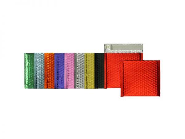 100 farbige Luftpolster-Versandtaschen 160x160 mm, matt