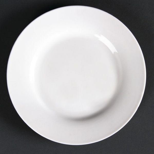 Lumina runde Teller mit breitem Rand 15cm