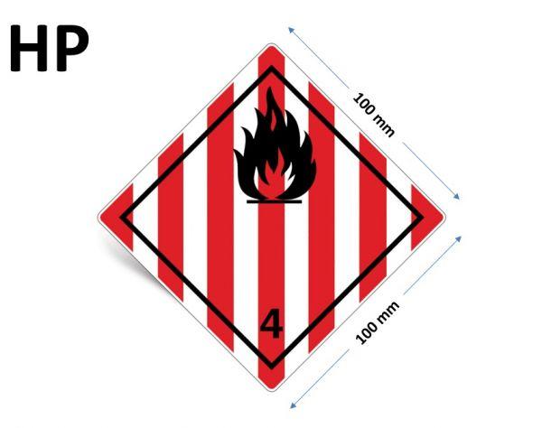 1000 Stück Gefahrgut-Kennzeichnung Klasse 4.1, ohne Text