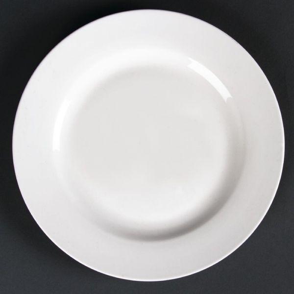 Lumina runde Teller mit breitem Rand 20cm