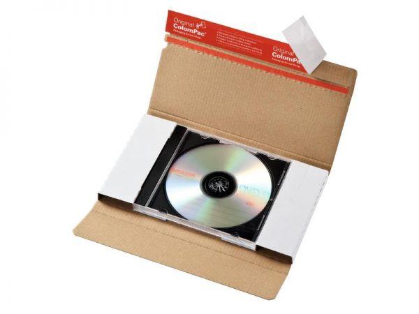 100 Stück: 225x125x12 mm CD-Hüllen-Versandbrief ohne Fenster