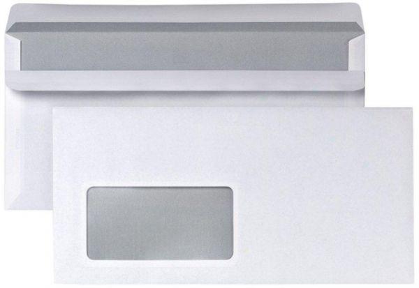 Briefumschlag, m.Fe., sk, DL, 220x110mm, weiß