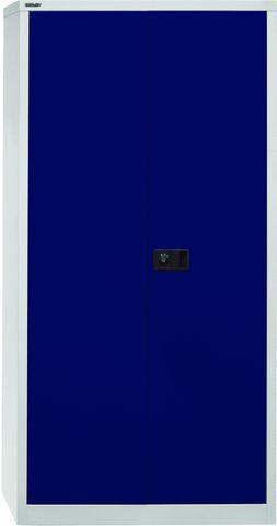 Akten-/Garderobenschrank Universal, 5 Ordnerhöhen, grau, blau
