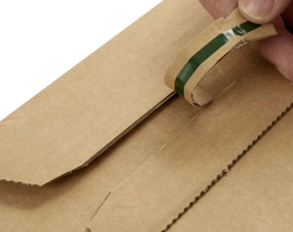 20 Stück: 300x220x0-80 mm A4 Buchverpackung mit ExtraSafe Verschluss, weiß