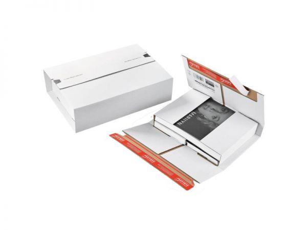 20 Stück: 305x230x0-92 mm A4 Universalverpackung, weiß