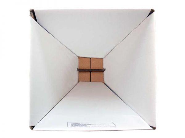 5 Stück: 1-teiliger Papphocker weiß 300x300x420 mm