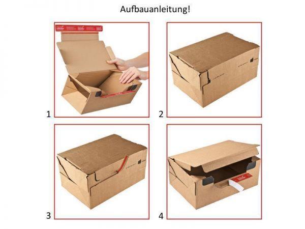 10 Stück: 282x191x90 mm Wiederverschließbare Kartons