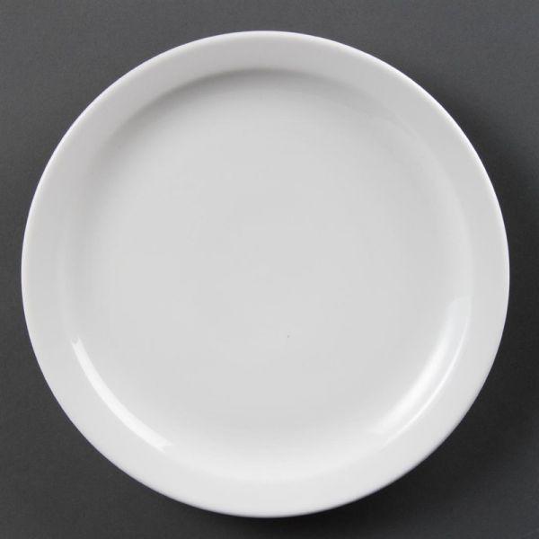 Olympia Whiteware Teller mit schmalem Rand 25cm