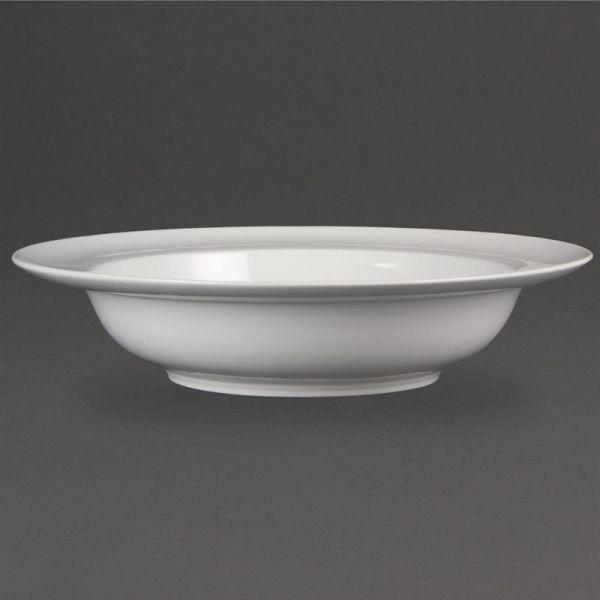 Olympia Whiteware Schüssel mit breitem Rand 22,8cm; Inhalt: 4 Stück