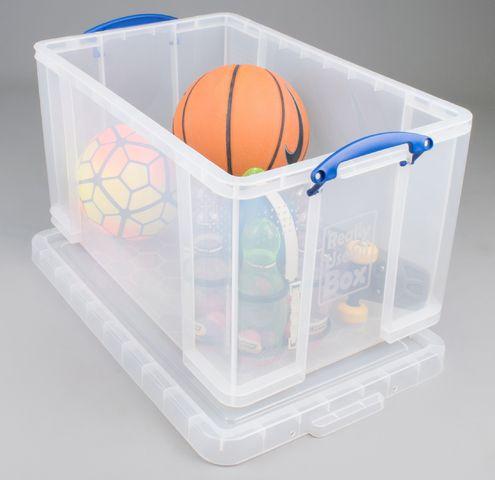 Aufbewahrungsbox, PP, 84 l, 71 x 44 x 38 cm, farblos, tr