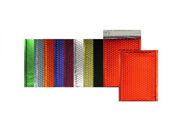 100 farbige Luftpolster-Versandtaschen 170x240 mm, matt