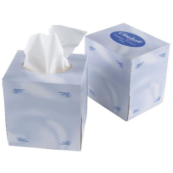 Weiße Taschentücher für Kubusbox; Inhalt: 24 Stück