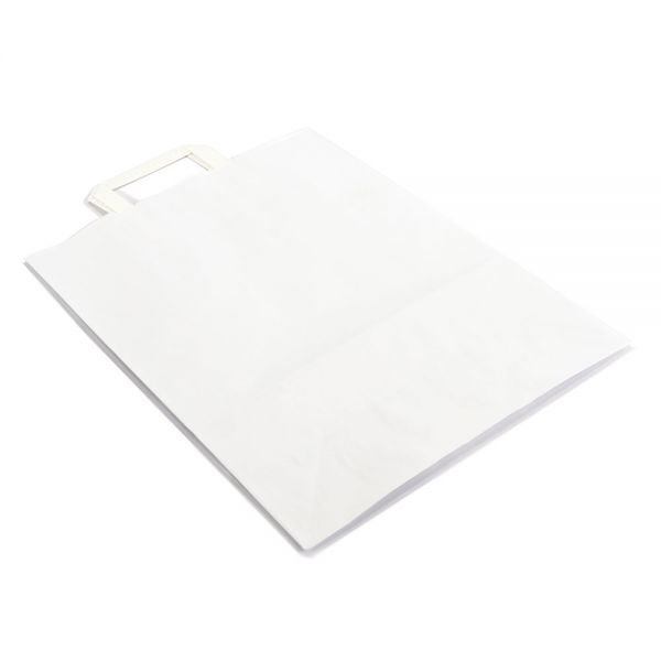 250 Papiertragetaschen mit Griff 220x105x280 mm weiß