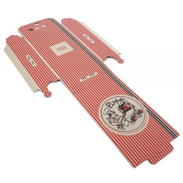 100 Stück: 270x160x70 mm Pizzakarton (Calzone)