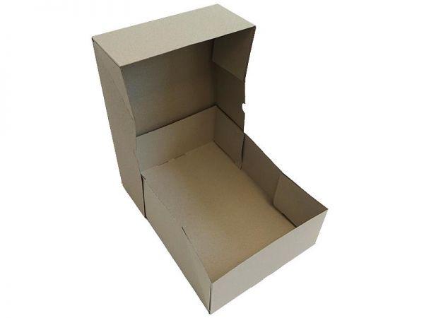 25 Stück: 305x215x100 mm Stülpdeckelkarton aus Graupappe A4