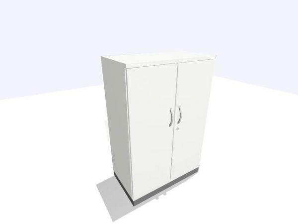 Aktenschrank, 800x450x1.200mm, 3OH, weiß