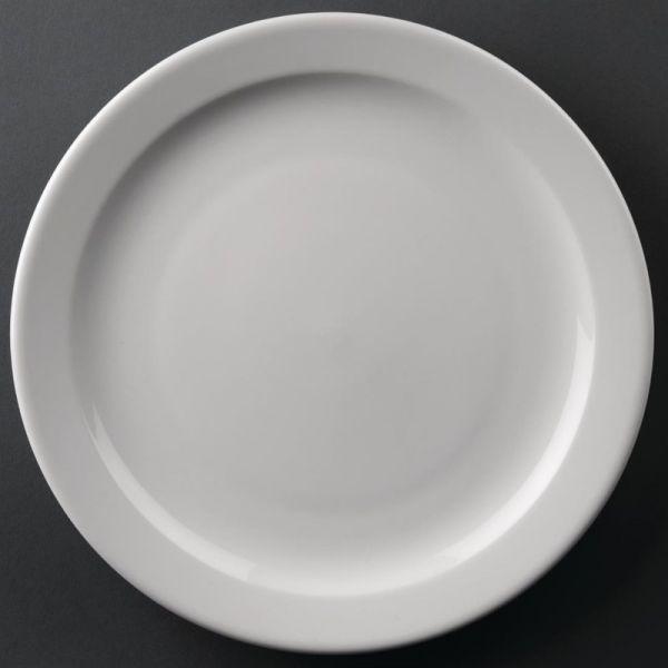 Athena Hotelware runde Teller mit schmalem Rand 25,4cm; Inhalt: 12 Stück