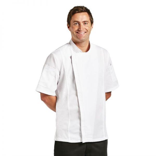Chef Works Springfield Herrenkochjacke kurze Ärmel weiß XL