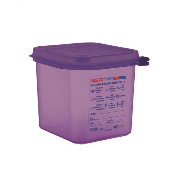 Araven GN1/6 Lebensmittelbehälter aus Silikon 2,6L