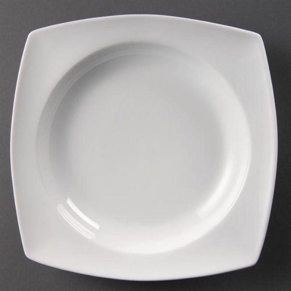 Olympia Whiteware tiefe viereckige Teller 25cm; Inhalt: 4 Stück