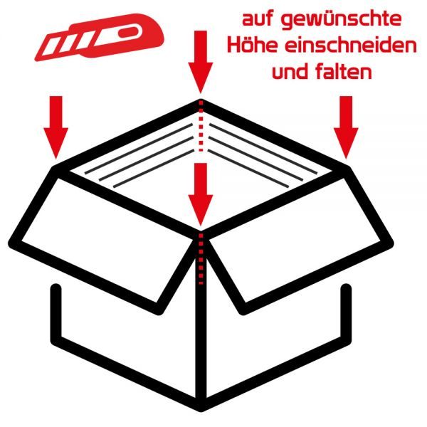800x600x200-400 mm zweiwellige Kartons (Außenmaß)