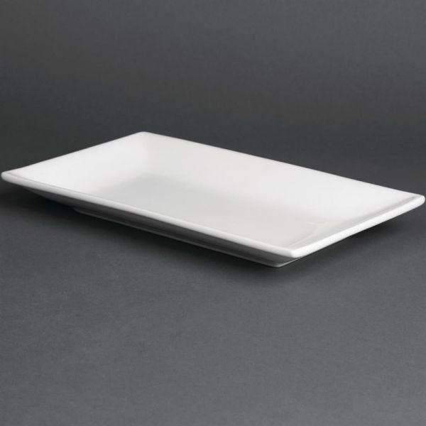 Olympia Whiteware rechteckige Servierteller 25 x 15cm