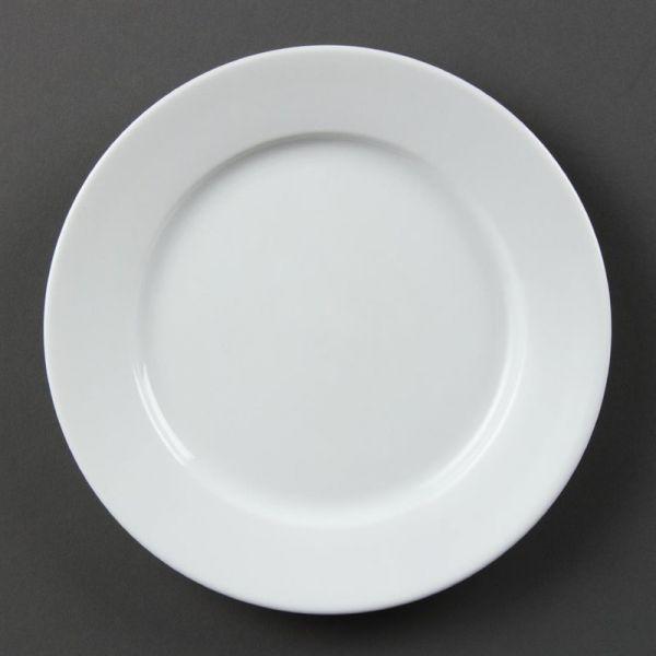 Olympia Whiteware Teller mit breitem Rand 20cm; Inhalt: 12 Stück