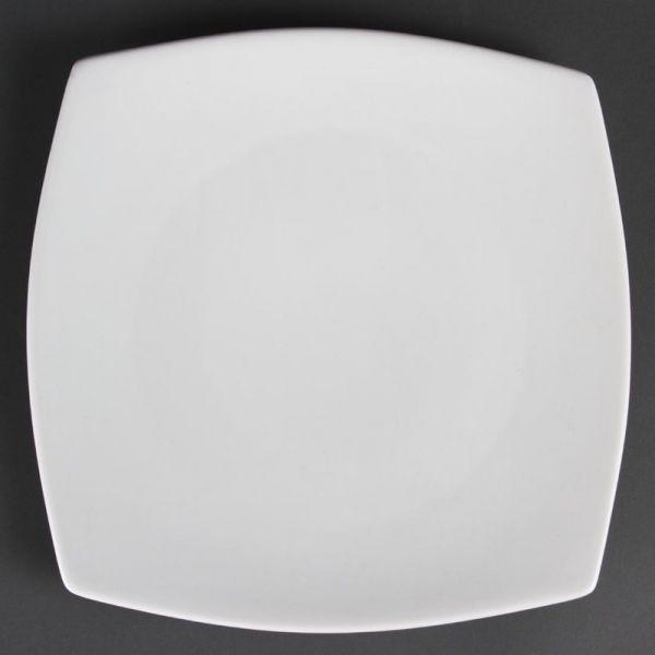 Olympia Whiteware abgerundete viereckige Teller 27cm; Inhalt: 6 Stück