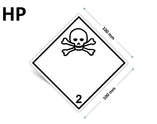 1000 Stück Gefahrgut-Kennzeichnung Klasse 2.3, ohne Text