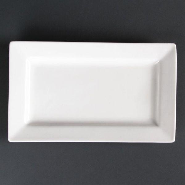 Lumina rechteckige Teller mit breitem Rand 27,5cm; Inhalt: 4 Stück