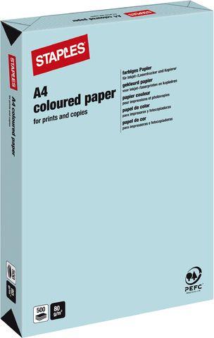 Multifunktionspapier, A4, 80g/m², medium blue / eisblau, pastell