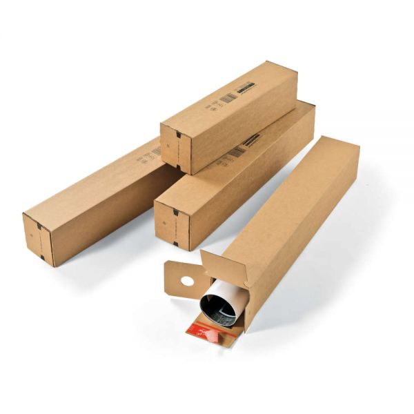 10 Stück: 610x108x108 mm Versandhülse A1 quadratisch