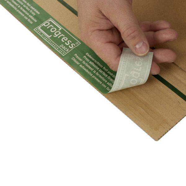 20 Stück: 350x260x0-70 mm C4 Buchverpackung mit ExtraSafe Verschluss