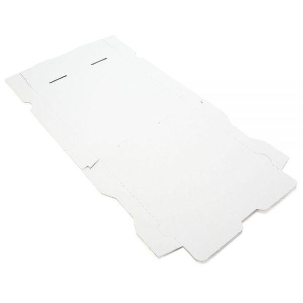 100 Stück: 290x290x40 mm Pizzakarton blanko, weiß