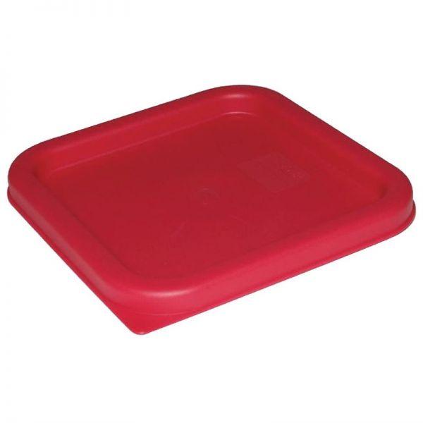 Vogue Deckel quadratisch für Vorratsbehälter 10 und 15L rot