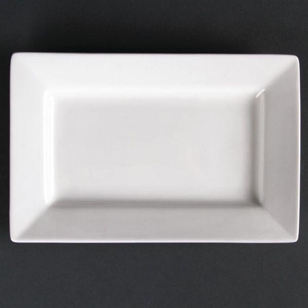 Lumina rechteckige Teller mit breitem Rand 20cm