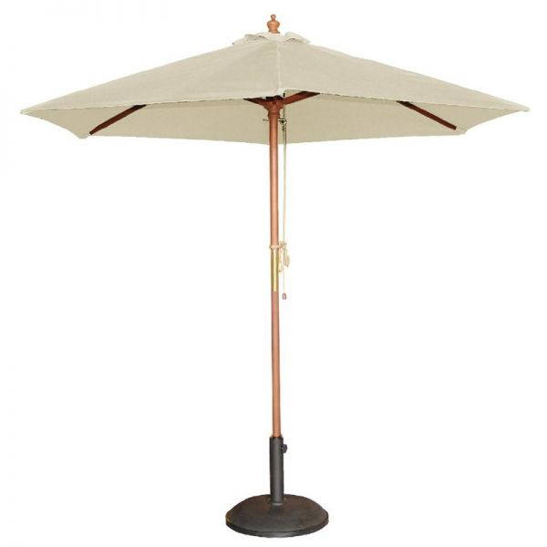 Bolero runder Sonnenschirm creme 3m